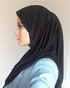 Black One Piece Hijab