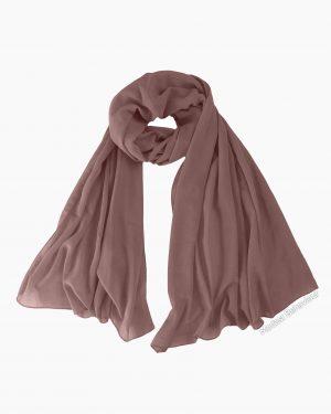 Mauve Brown Chiffon Hijab