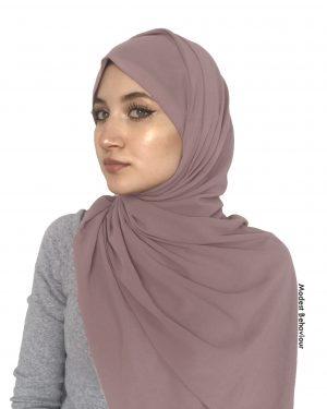 Pink Tea Chiffon Hijab