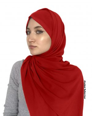 Red Rose Chiffon Hijab