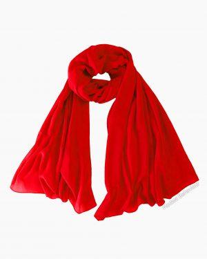 Red Rose Chiffon Hijab