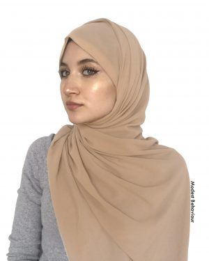 Sandy Brown Chiffon Hijab