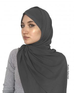 Stormy Gray Chiffon Hijab