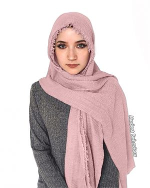 Blush Pink Crinkled Hijab