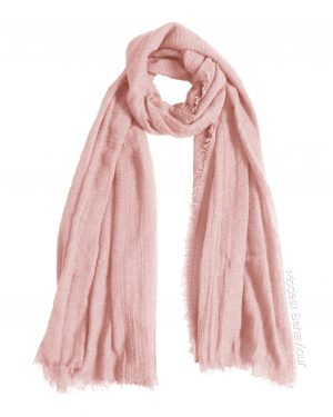 Blush Pink Crinkle Hijab