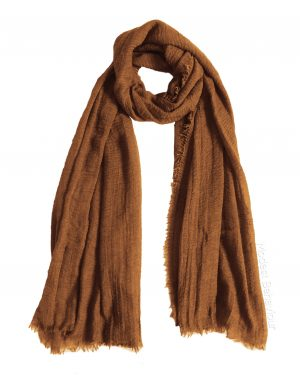 Caramel Brown Crinkle Hijab