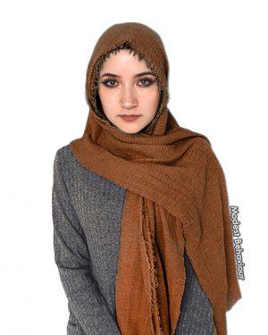 Chestnut Brown Crinkle Hijab