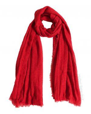 Rose Red Crinkle Hijab