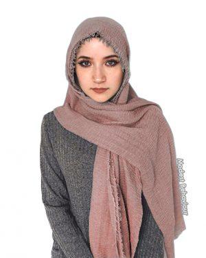 Mauve Crinkle Hijab