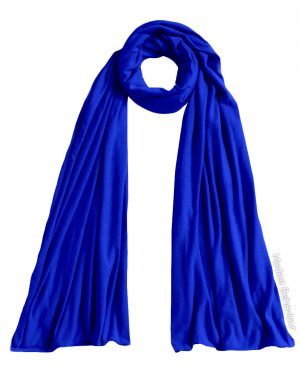 Royal Blue Jersey Hijab