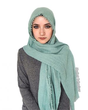 Peppermint Green Crinkle Hijab