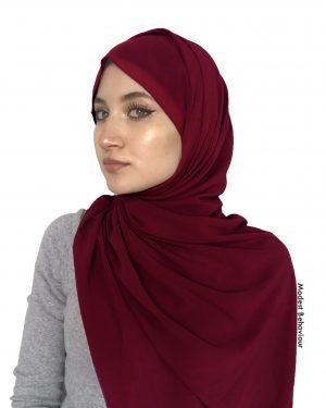 Burgundy Chiffon Hijab