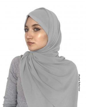 Silver Chiffon Hijab