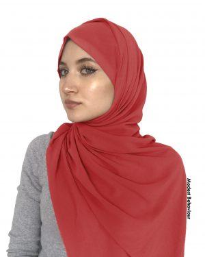 Spice Red Chiffon Hijab