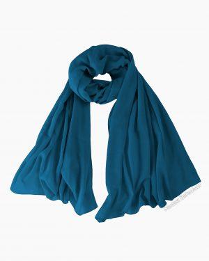 Teal Blue Chiffon Hijab
