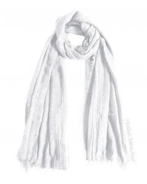 White Snow Crinkle Hijab
