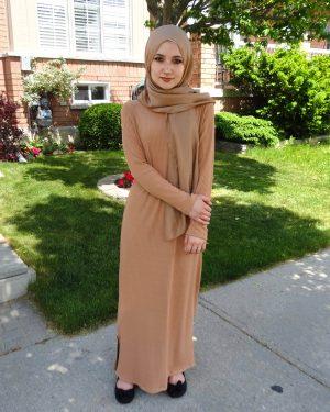 Designer Striped Knit Maxi Dress