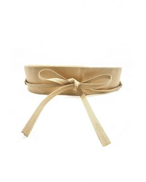 Bow Tied Faux Leather Belt