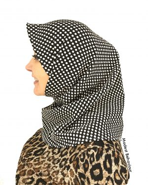 Designer Polka Dot One Piece Hijab