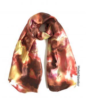 Marble Flame Satin Hijab