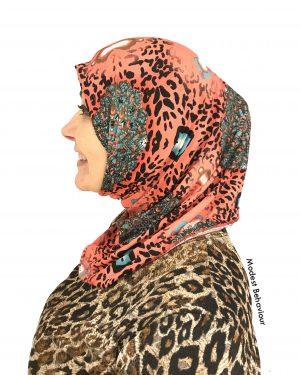 Pink Leopard One Piece Hijab