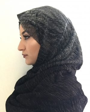 Black Shimmer One Piece Hijab