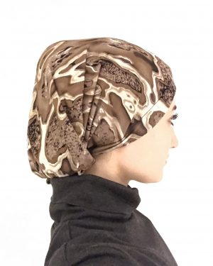 Designer Brown Pattern Long Underscarf