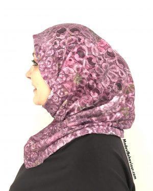 Fuschia Lace One Piece Hijab