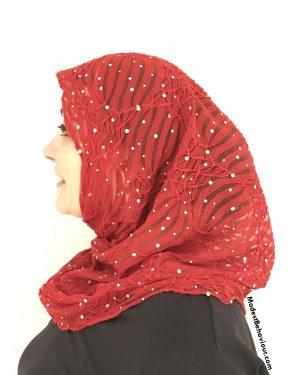 Red Gem One Piece Hijab