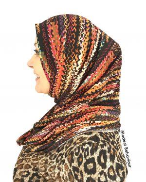 Designer Tribal Pattern One Piece Hijab
