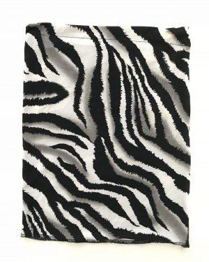 Designer Zebra Print Long Underscarf