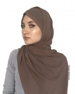 Hazelnut Brown Chiffon Hijab