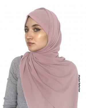 Nude Pink Chiffon Hijab