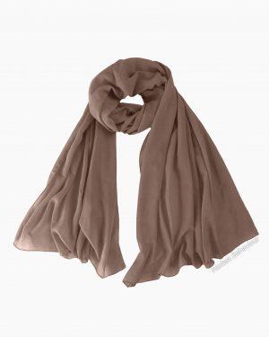 Hazelnut Brown Chiffon Hijab
