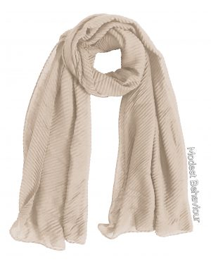 Beige Rippled Hijab