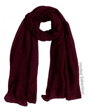 Burgundy Rippled Hijab