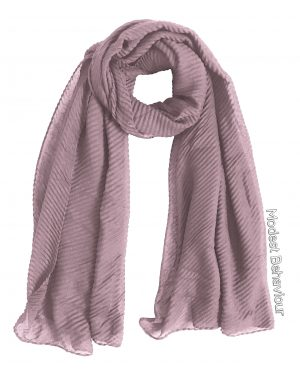Pink Tea Rippled Hijab