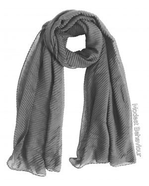 Gray Rippled Hijab