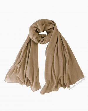 Khaki Brown Chiffon Hijab
