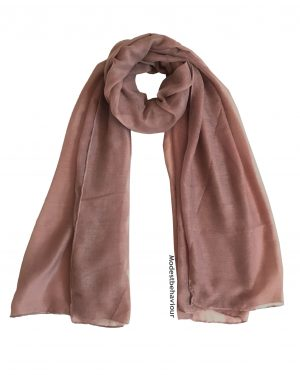 Mauve Brown Cotton Hijab