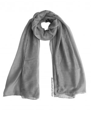 Cloudy Gray Cotton Hijab