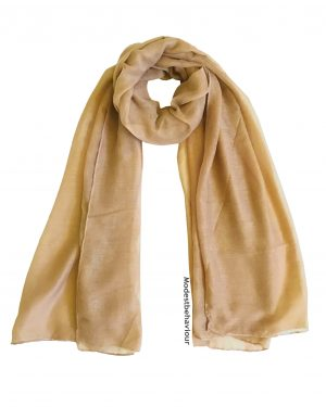 Golden Brown Cotton Hijab
