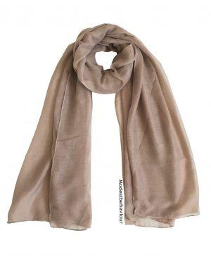 Khaki Brown Cotton Hijab