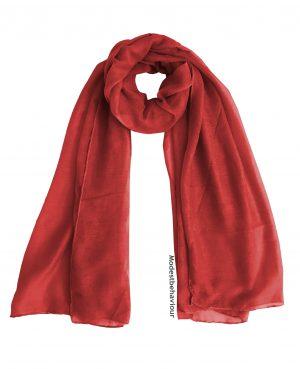 Rose Red Cotton Hijab