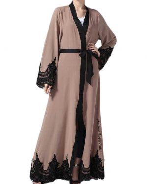 Mauve Lace Abaya