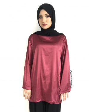 Designer Wide Sleeve Satin Top
