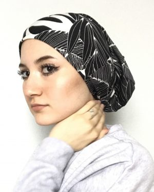 Designer Wild Pattern Black and White Underscarf