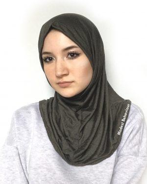 Designer One Piece Army Green Hijab