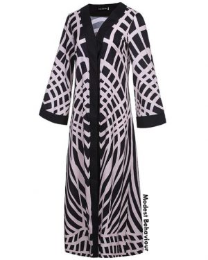 Abstract Open Abaya