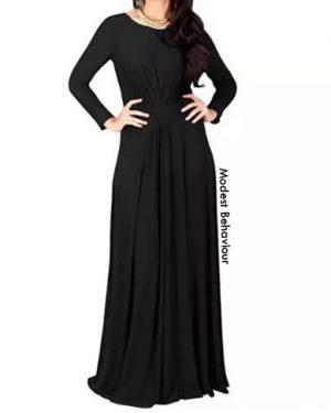 Elegant A-Line Maxi Dress